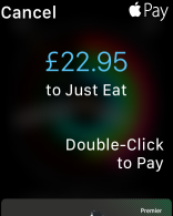 Payment confirmation for a purchase from macOS using Apple Watch.